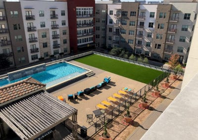 Artificial Turf Pet Play Area Apartment Complex