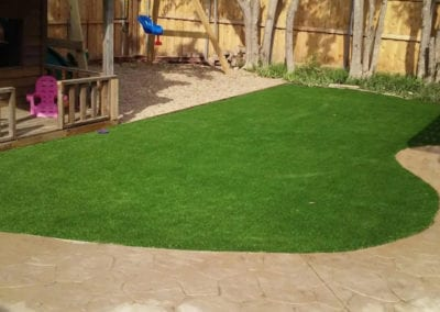 Artificial Turf Landscape Play Area
