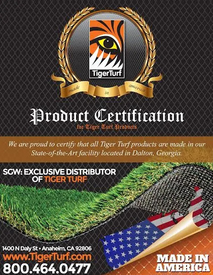DFW Turf Solutions TigerTurf product certification